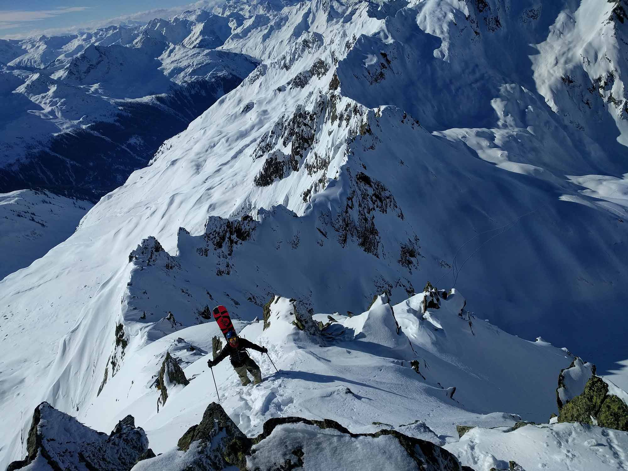 splitboarding and hiking arlberg